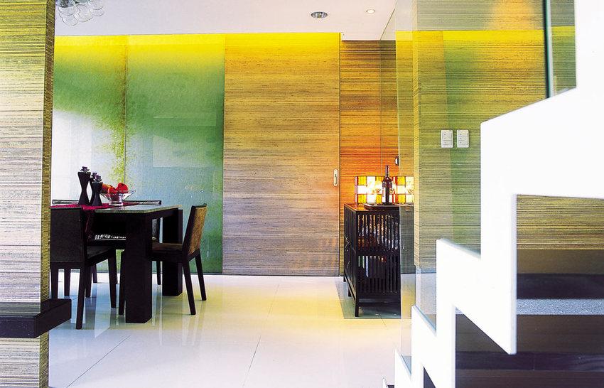 多彩现代风烤漆玻璃效果图
