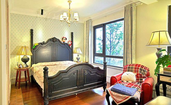 浪漫乡村美式卧室效果图