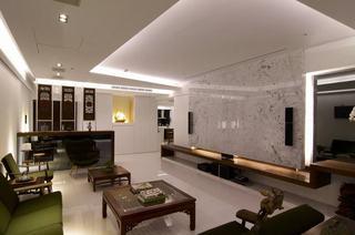简中式现代110平三居家装设计