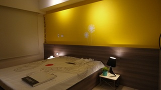 柠檬黄北欧风 卧室背景墙设计
