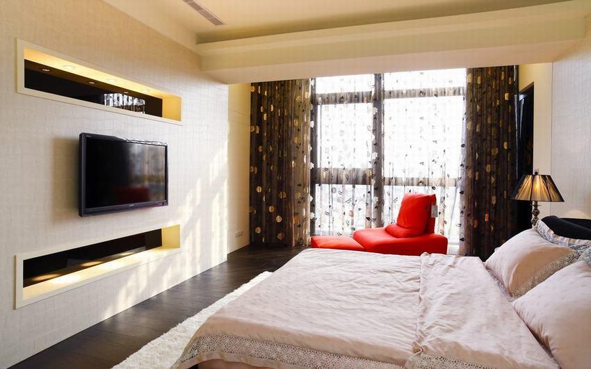现代家装卧室窗帘效果图