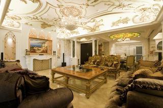 奢华欧式宫廷风客厅装饰欣赏