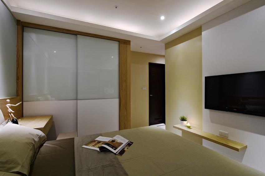 美式卧室玻璃衣柜门设计