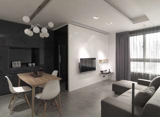 宜家风格公寓电视背景墙欣赏