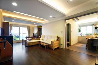 实木现代中式二居装饰