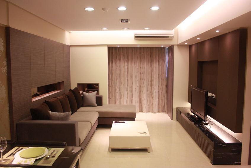 咖啡色现代客厅装修效果图