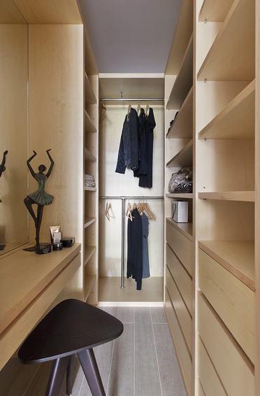 简约美式衣帽间实木衣柜设计