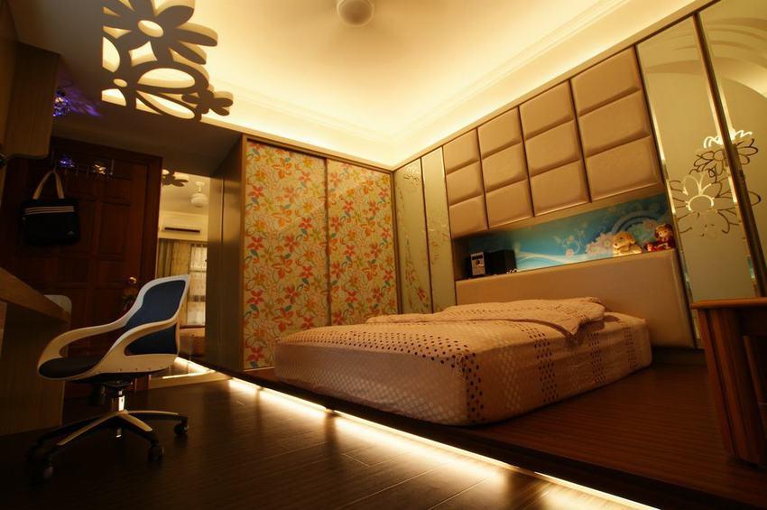 个性古典欧式 错层卧室设计
