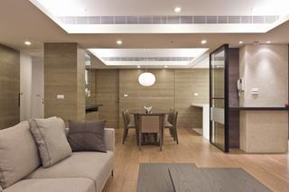 优雅现代风 浅咖色三室两厅效果图