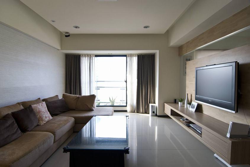 简约现代客厅精装效果图