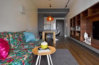 古朴美式风格一居室装潢图