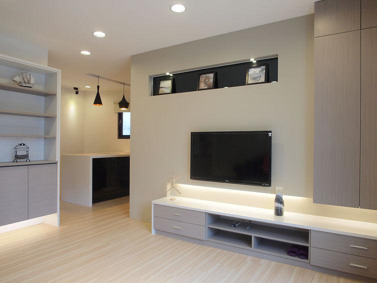现代简约装修 电视背景墙效果图