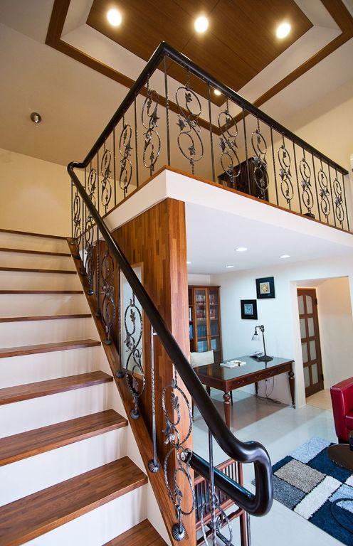 现代装修复式楼梯护栏设计
