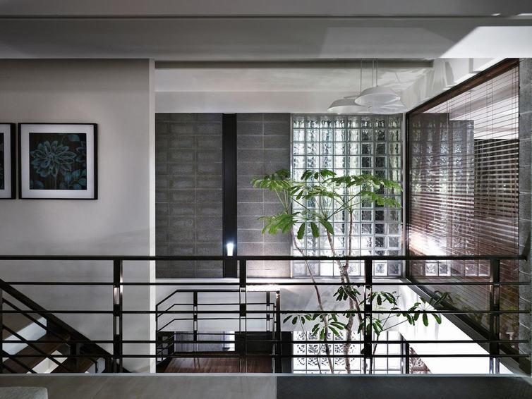 新中式风格复式室内护栏设计