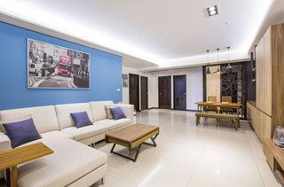 98平三居室 清新复古美式混搭效果图