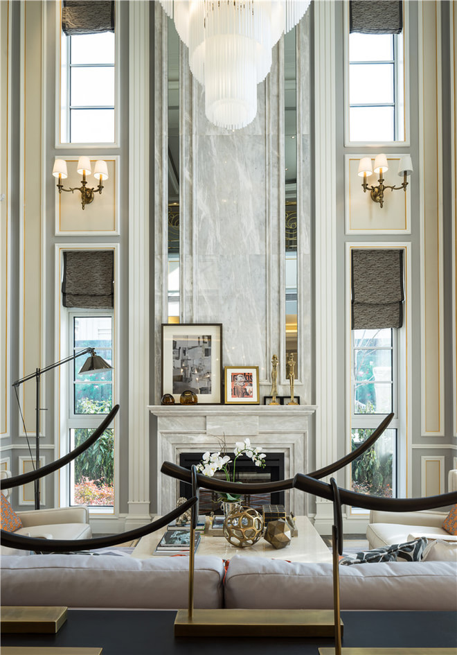 奢华北欧风别墅挑高背景墙设计