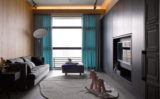 美式风格一居室设计装修图