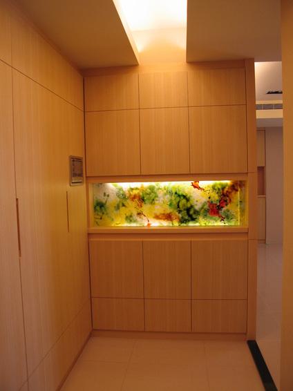 温馨日式和风玄关鱼缸设计