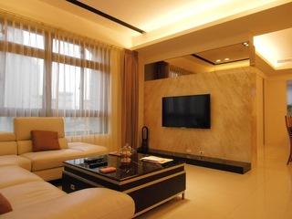 温馨现代风客厅 电视背景墙设计