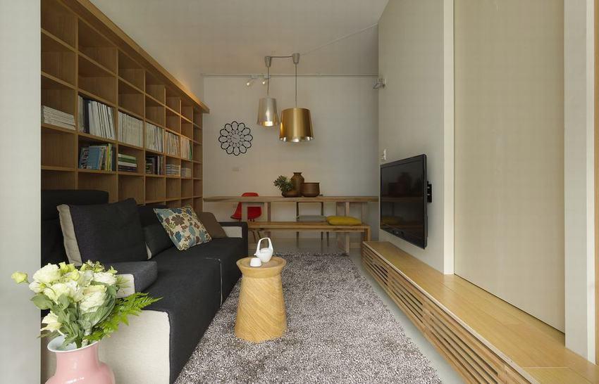简约创意设计一居室效果图