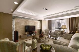 现代家装客厅吊顶效果图