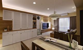 98平休闲美式风格三室两厅设计图