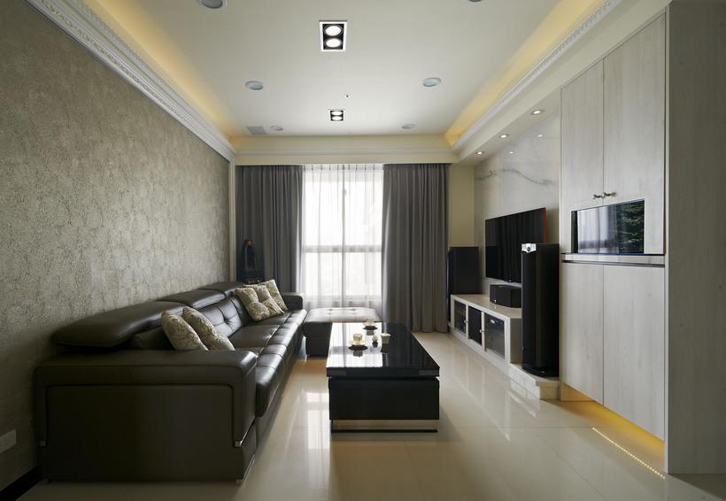 现代三居客厅精装效果图