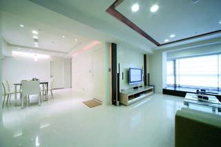 白色简约两室两厅装修欣赏图