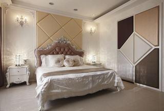 新古典风格卧室床头软包设计