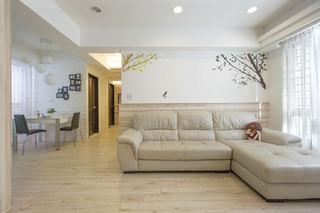 裸色系宜家日式公寓效果图