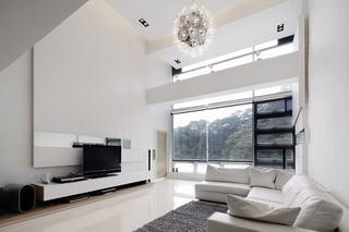 白色简约现代小别墅局部图