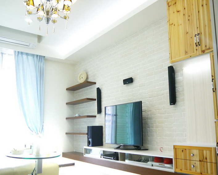 简约时尚设计电视背景墙效果图