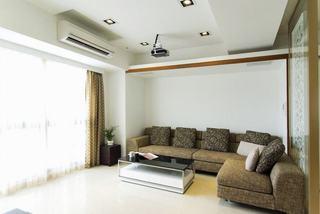 休闲美式客厅布艺沙发设计