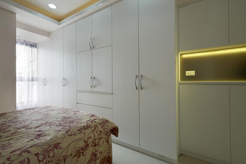 时尚现代卧室白色衣柜设计