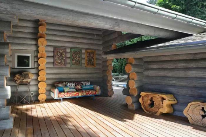 自然东南亚风情别墅外墙设计
