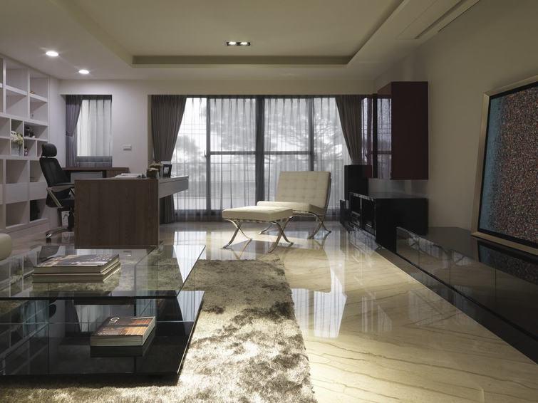华丽现代美式客厅效果图