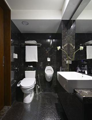时尚黑色现代风洗手间欣赏