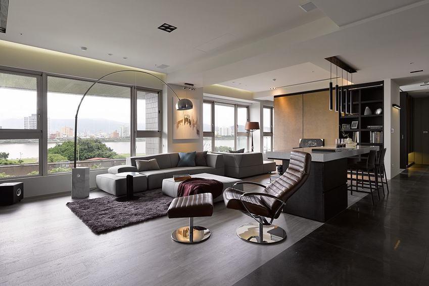 现代装修客厅窗户效果图