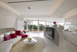 时尚明亮后现代顶层公寓设计