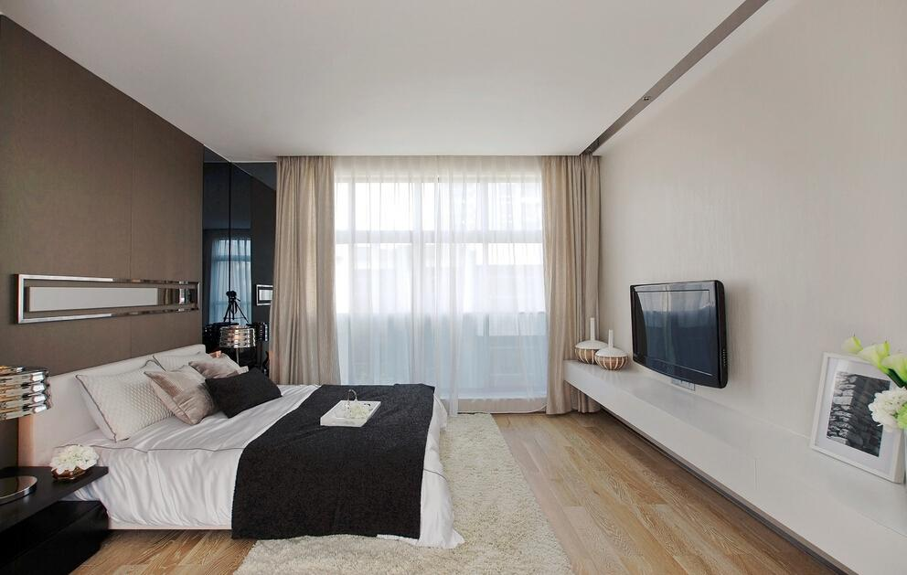 时尚咖色日式卧室装饰大全
