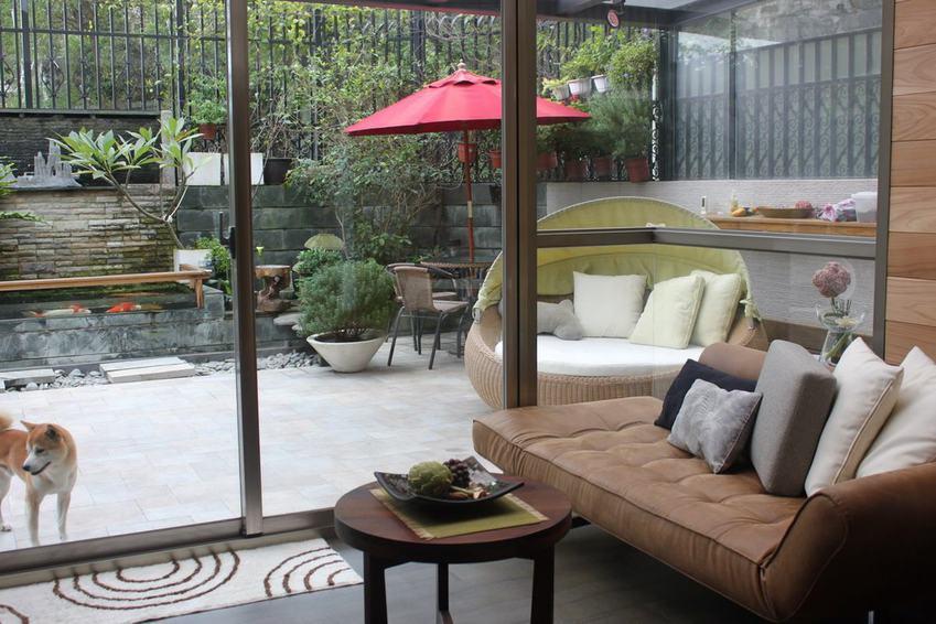 现代时尚设计别墅庭院效果图