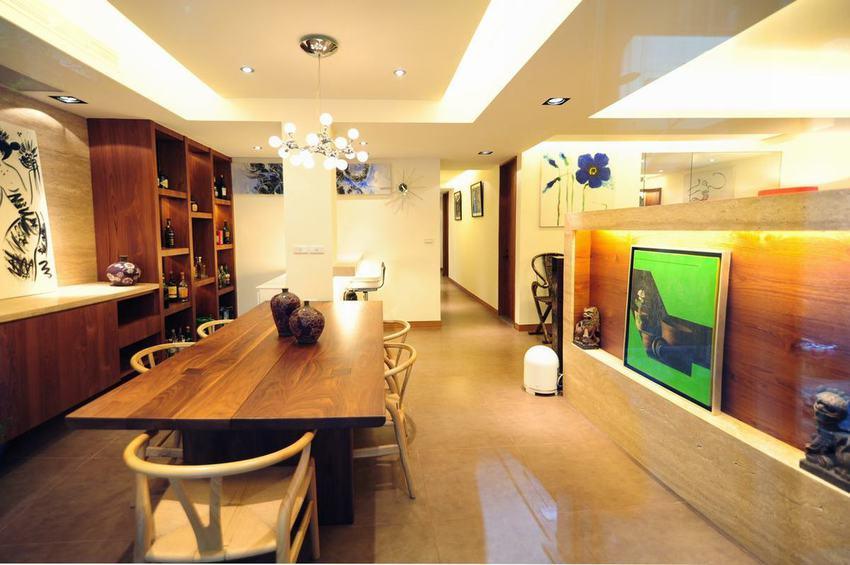 现代简中式设计餐厅装修图