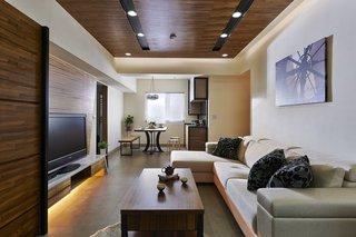 家装现代客厅吊顶效果图