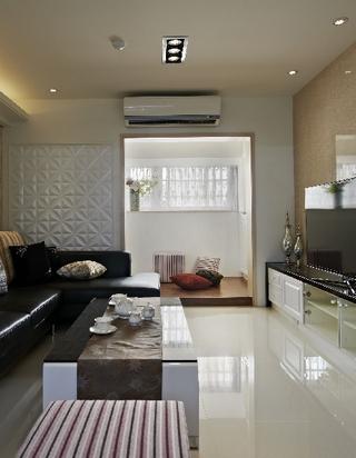 98平时尚现代风三居室效果图