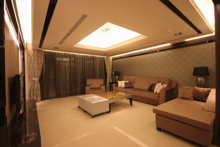 典雅现代三室两厅样板房设计