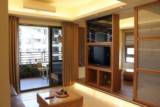 休闲复古日式 原木二居室效果图