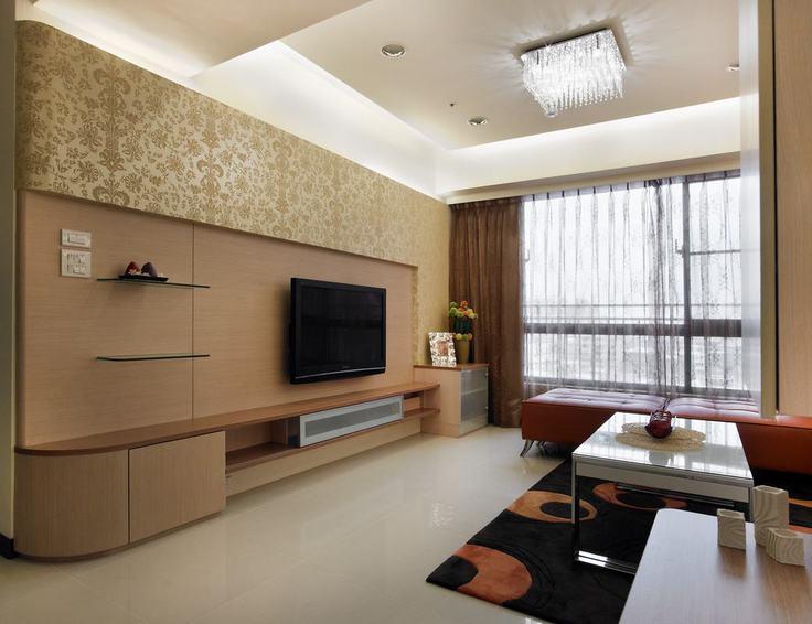 现代简约客厅吸顶灯装饰图