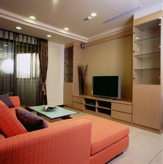时尚现代客厅电视柜装饰图