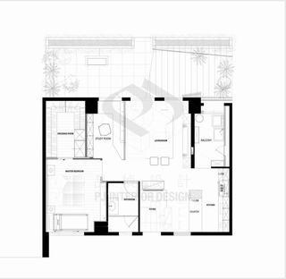 休闲美式别墅平面效果图