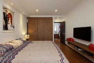 100平米三居婚房古朴美式风格装修效果图